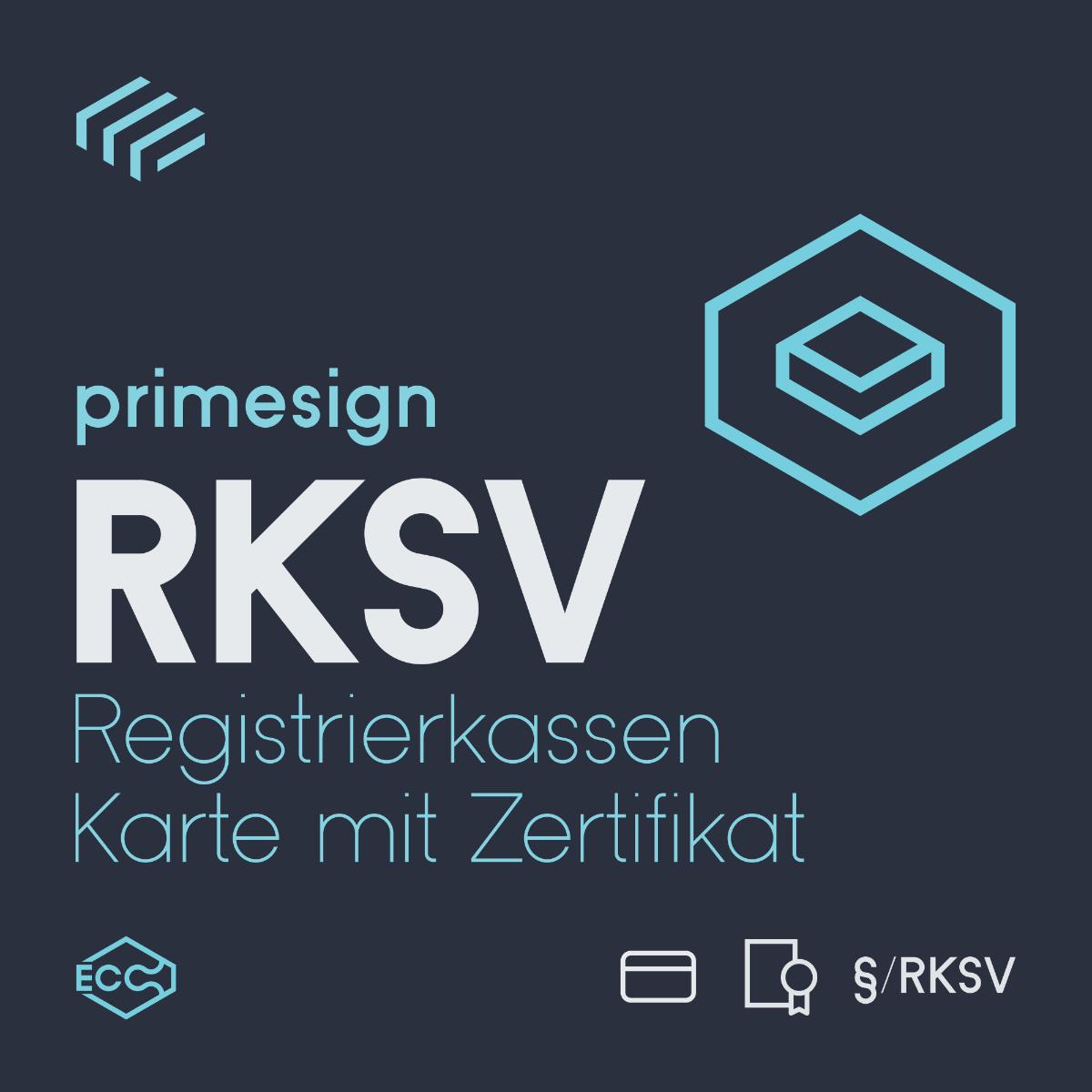 RKSV Registrierkassenchipkarte mit Zertifikat