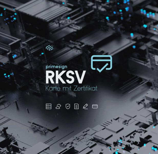 RKSV Karte mit Zertifikat